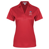 Ladies Red Performance Fine Jacquard Polo-Department of Health Professions Vertical