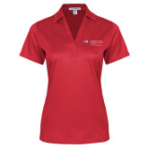 Ladies Red Performance Fine Jacquard Polo-Recreation Professions