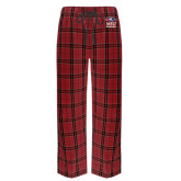 Red/Black Flannel Pajama Pant-Informal Logo