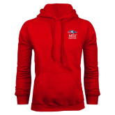 Red Fleece Hoodie-Informal Logo