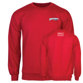 Red Fleece Crew-Roadrunners with Head