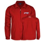 Full Zip Red Wind Jacket-Roadrunners with Head