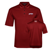 Red Performance Fine Jacquard Polo-Roadrunners with Head