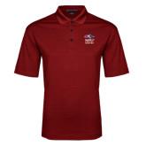 Red Performance Fine Jacquard Polo-Informal Logo