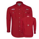 Columbia Bahama II Red Long Sleeve Shirt-Roadrunners with Head