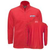 Fleece Full Zip Red Jacket-Roadrunners with Head