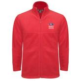 Fleece Full Zip Red Jacket-Informal Logo