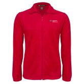 Fleece Full Zip Red Jacket-Department of Health Professions