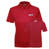 Ladies Red Dry Mesh Polo-Roadrunners with Head