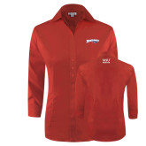 Ladies Red House Red 3/4 Sleeve Shirt-Roadrunners with Head