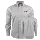 Red House Grey Plaid Long Sleeve Shirt-Roadrunners with Head