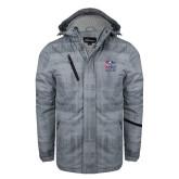 Grey Brushstroke Print Insulated Jacket-Informal Logo