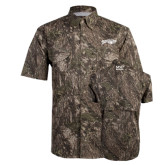 Camo Short Sleeve Performance Fishing Shirt-Roadrunners with Head