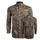 Camo Long Sleeve Performance Fishing Shirt-Roadrunners with Head