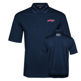 Navy Performance Fine Jacquard Polo-Roadrunners with Head