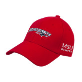 Red Heavyweight Twill Pro Style Hat-Roadrunners with Head