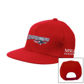 Red Flat Bill Snapback Hat-Roadrunners with Head