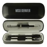 Black Roadster Gift Set-MSU Denver Flat Engraved