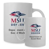 Full Color White Mug 15oz-Department of Social Work