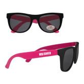 Black/Hot Pink Sunglasses-MSU Denver Flat