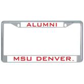 Alumni Metal License Plate Frame in Chrome-Alumni