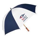 62 Inch Navy/White Umbrella-Informal Logo