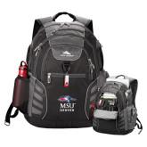 High Sierra Big Wig Black Compu Backpack-Informal Logo