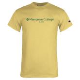 Champion Vegas Gold T Shirt-Alumni Wordmark