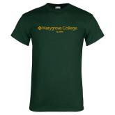 Dark Green T Shirt-Alumni Wordmark
