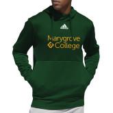 Adidas Dark Green Team Issue Hoodie-Primary Mark