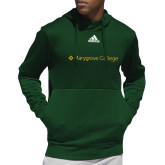 Adidas Dark Green Team Issue Hoodie-Wordmark