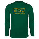 Performance Dark Green Longsleeve Shirt-Graduate School