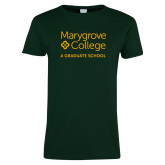 Ladies Dark Green T Shirt-Graduate School