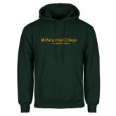 Dark Green Fleece Hood-Graduate School Wordmark