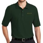Dark Green Easycare Pique Polo-Wordmark