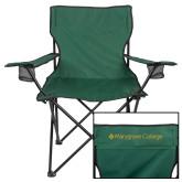 Deluxe Green Captains Chair-Wordmark