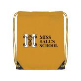 Gold Drawstring Backpack-MHS Horizontal
