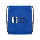 Royal Drawstring Backpack-MHS Horizontal