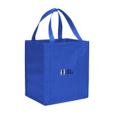 Non Woven Royal Grocery Tote-MHS Horizontal