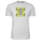 Next Level SoftStyle White T Shirt-MHS Logo