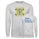 White Long Sleeve T Shirt-MHS Logo