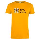 Ladies Gold T Shirt-MHS Horizontal