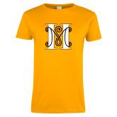 Ladies Gold T Shirt-MHS Logo