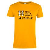 Ladies Gold T Shirt-Alumnae