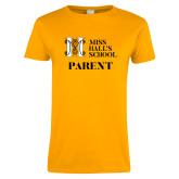 Ladies Gold T Shirt-Parent