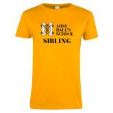 Ladies Gold T Shirt-Sibling