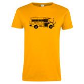Ladies Gold T Shirt-MHS Bus