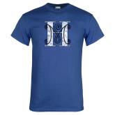 Royal T Shirt-MHS Logo Distressed