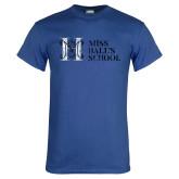 Royal T Shirt-MHS Horizontal Distressed