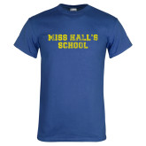 Royal T Shirt-Miss Halls School Distressed